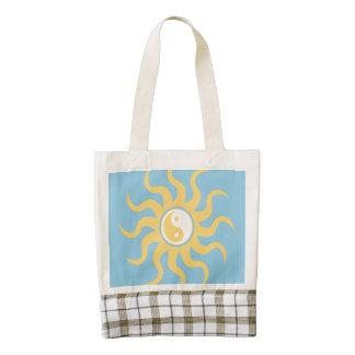 Yin yang sunshine zazzle HEART tote bag