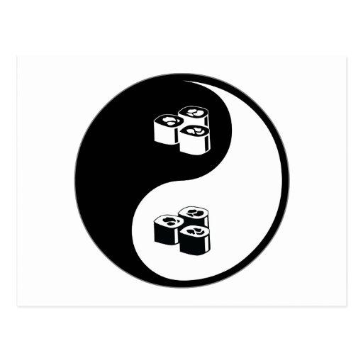 Yin Yang Sushi Post Cards