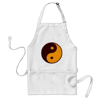 Yin Yang Symbol Adult Apron