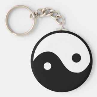 Yin Yang Symbol Basic Round Button Keychain