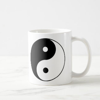 Yin Yang Symbol Black White Mug