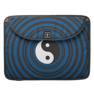 Yin Yang Symbol Blue Concentric Circles Ripples Sleeves For MacBook Pro