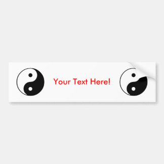 Yin Yang Symbol: Car Bumper Sticker