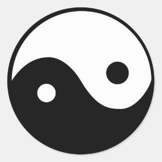 Yin Yang Symbol Classic Round Sticker