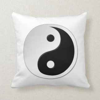 Yin Yang Symbol Cotton Throw Pillow