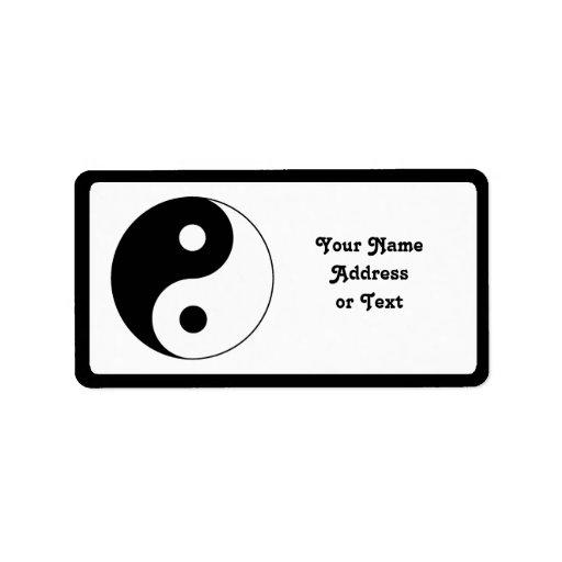 Yin / Yang Symbol Custom Address Label