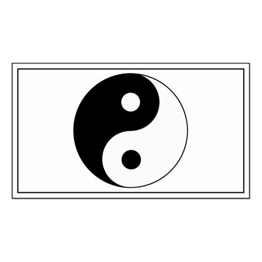 Yin / Yang Symbol Double-Sided Standard Business Cards (Pack Of 100)
