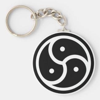 yin/yang symbol keychain