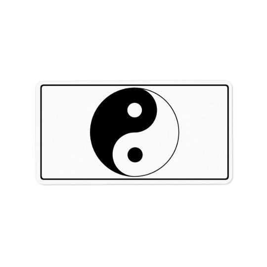 Yin / Yang Symbol Label