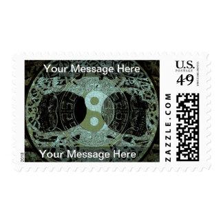 Yin Yang Symbol Mandala Postage