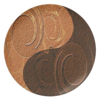 Yin Yang Symbol Melamine Plate