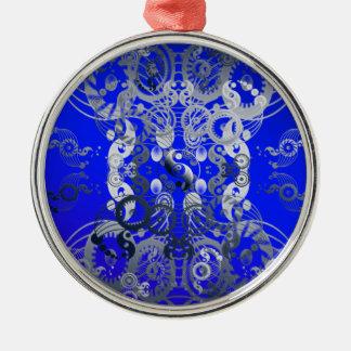 Yin yang symbol metal ornament