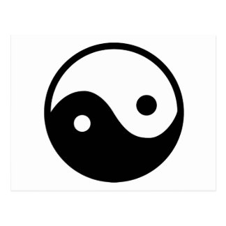 Yin Yang Symbol Postcard
