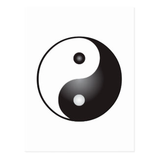 Yin Yang Symbol: Postcard