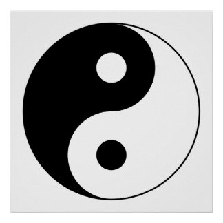 Yin Yang Symbol Posters