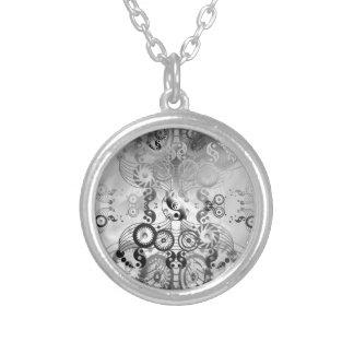 Yin yang symbol round pendant necklace