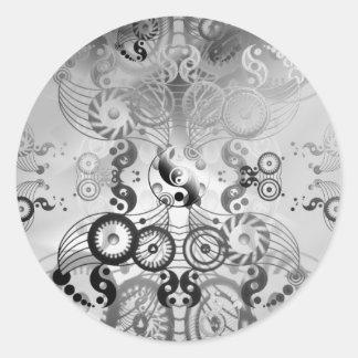 Yin yang symbol round stickers