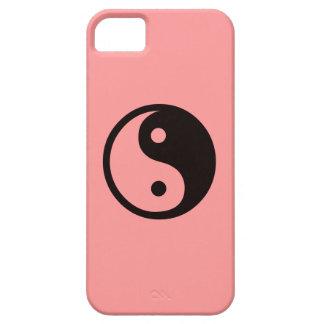 Yin-Yang Symbol/Salmon Pink iPhone SE/5/5s Case