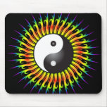 Yin Yang Symbol & Spiral Design: Mousepad