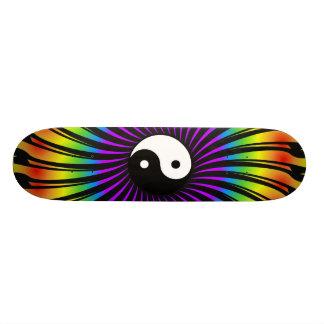 Yin Yang Symbol & Spiral Design: Skateboard