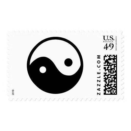 Yin Yang Symbol Stamps