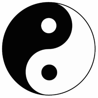 Yin / Yang Symbol Statuette