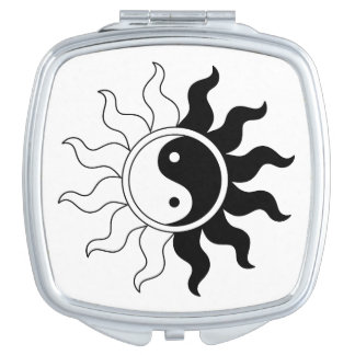 Yin Yang symbol sun Makeup Mirror