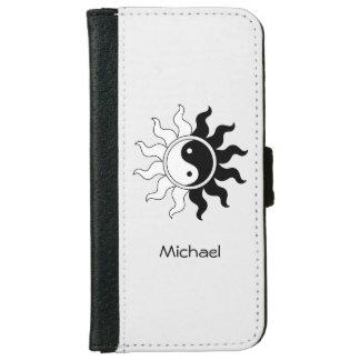 Yin Yang symbol sun Wallet Phone Case For iPhone 6/6s