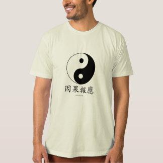 Yin & Yang symbol with Chinese Karma symbols T-Shirt