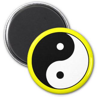 Yin Yang Symbol Yellow Magnet