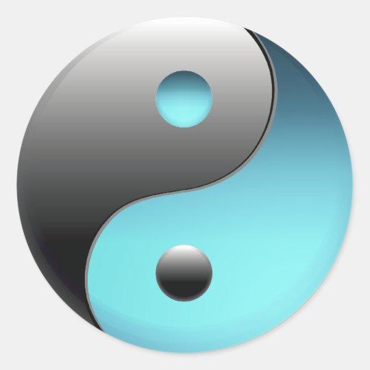 Yin Yang Symbol - Ying Yang Sign Classic Round Sticker