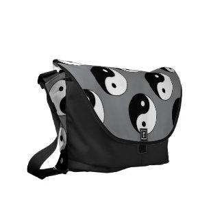 Yin Yang Symbols Messenger Bag