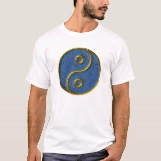 Yin-Yang T-Shirt, Gold and Blue mosaic T-Shirt