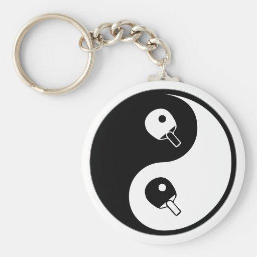 Yin Yang Table Tennis Key Chain
