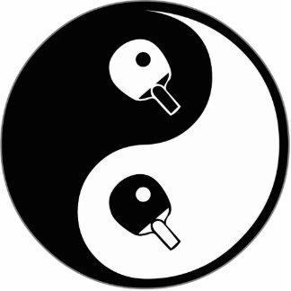 Yin Yang Table Tennis Cut Out