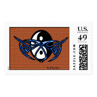 YIN YANG TAG POSTAGE STAMPS