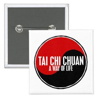 Yin Yang Tai Chi Chuan 1 2 Inch Square Button