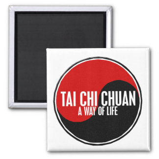 Yin Yang Tai Chi Chuan 1 2 Inch Square Magnet