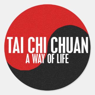 Yin Yang Tai Chi Chuan 1 Classic Round Sticker