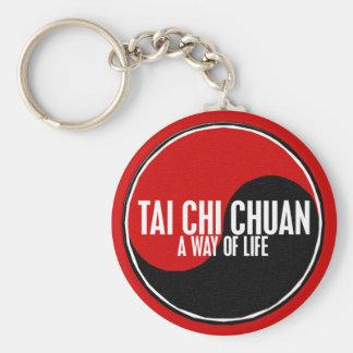 Yin Yang Tai Chi Chuan 1 Basic Round Button Keychain