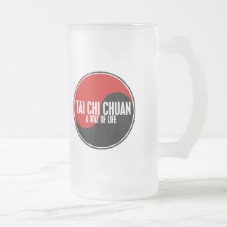 Yin Yang Tai Chi Chuan 1 16 Oz Frosted Glass Beer Mug