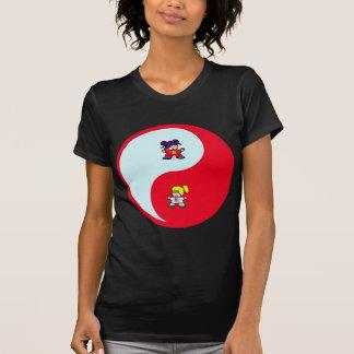 yin yang tai t'ai chi ji martial arts cute girls shirt