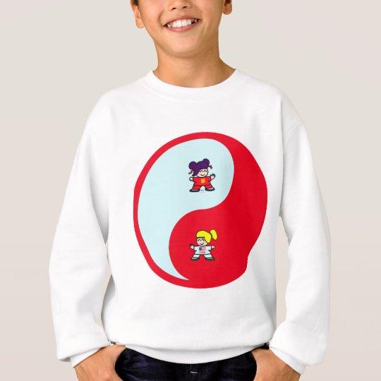 yin yang tai t'ai chi ji martial arts cute girls sweatshirt