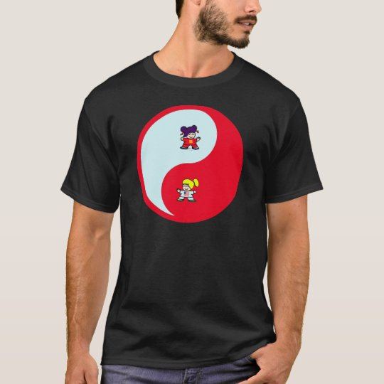 yin yang tai t'ai chi ji martial arts cute girls T-Shirt