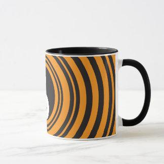 Yin Yang Taijitu Symbol Orange Black Circles Mug