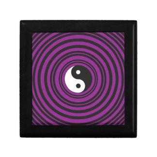 Yin Yang Taijitu symbol Purple Black Circles Keepsake Boxes