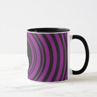 Yin Yang Taijitu symbol Purple Black Circles Mug