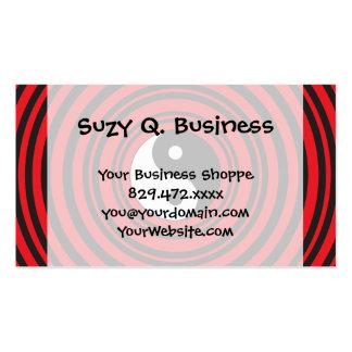 Yin Yang Taijitu Symbol with Red Circles Pattern Business Card