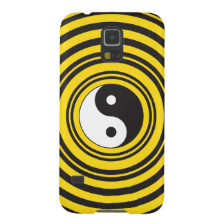 Yin Yang Taijitu symbol Yellow Black Ripples Galaxy S5 Cover