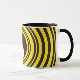 Yin Yang Taijitu symbol Yellow Black Ripples Mug